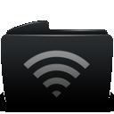 Black, Folder, Wifi Icon