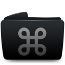 Black, Cmd, Folder Icon