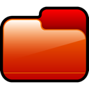 Closed, Folder, Red Icon