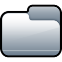 Closed, Folder, Silver Icon