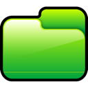 Closed, Folder, Green Icon