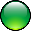 Aqua, Ball, Green Icon