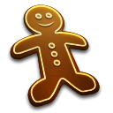 Cake, Christmas, Food, Gingerbread, Man Icon