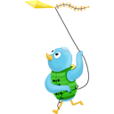 Bird, Kite, Spring, Twitter Icon