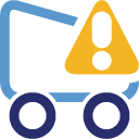 Shoppingcart, Warning Icon