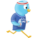 Bird, Jog, Sport, Twitter Icon