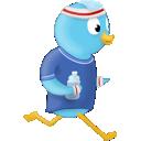 Bird, Jogger, Twitter Icon