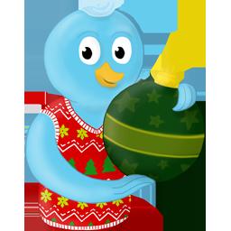 Bird, Christmas, Ornament, Twitter, Winter Icon