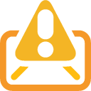 Mail, Warning Icon