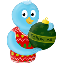Christmas, Folow, Me, Ornament, Winter Icon