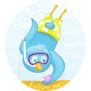 Bird, Diving, Scuba, Twitter Icon