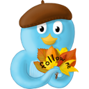 Fall, Follow, Leaves, Me, Twitter Icon