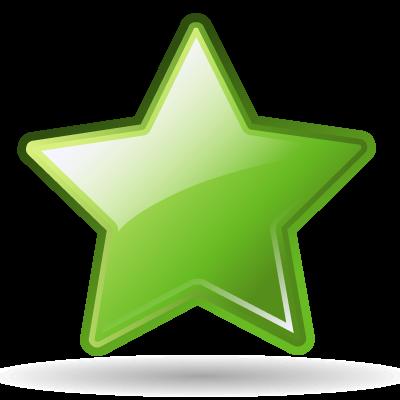 Bookmark, Green, Star Icon