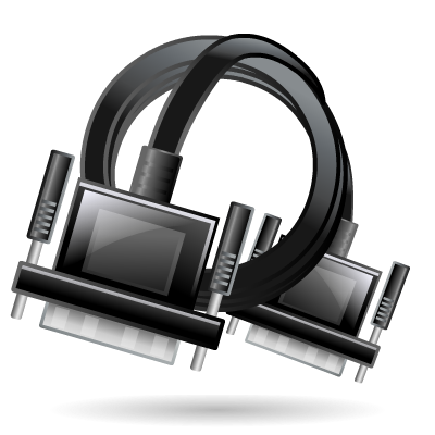 Cable, Extension, Vga Icon