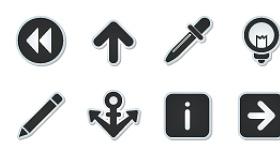 Super Mono Stickers Icons