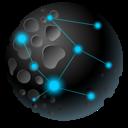 Astroid, Moon, Planet Icon