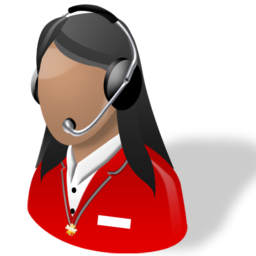 Lady Receptionist Support Woman Icon Download Free Icons