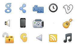Social + Tabs Color: Free Icons