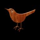 Animal, Bird, Birdo, Twitter, Wood Icon