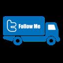 Follow, Me, Transportation, Truck, Twitter Icon