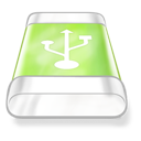 Drive, Green, Usb Icon