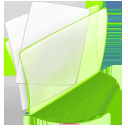 Dossier, Green, Papier Icon