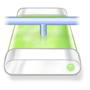 Drive, Green, Network Icon