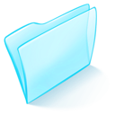 Blue, Dossier, Normal Icon