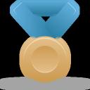 Blue, Bronze, Metal Icon