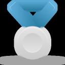 Blue, Metal, Silver Icon