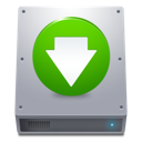 Down, Green, Hdd Icon