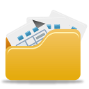 Folder, Full, Open Icon