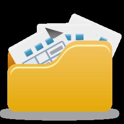 Folder, Full, Open Icon