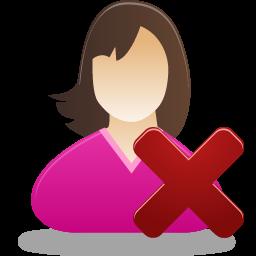 Female, Remove, User Icon