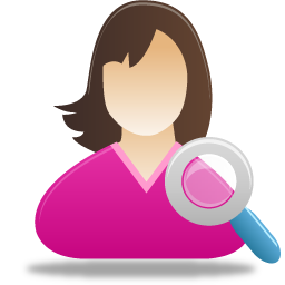 Female, Search, User Icon