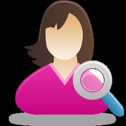 Female, Search, User Icon