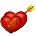 And, Arrow, Hearts Icon