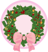 Christmas, Icon, Wreath Icon
