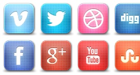 Grid Style Social Media Icons