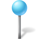 Azure, Ball, Map, Marker Icon