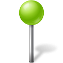 Ball, Chartreuse, Map, Marker Icon