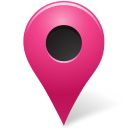 Map, Marker, Outside, Pink Icon