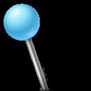 Azure, Ball, Left, Map, Marker Icon