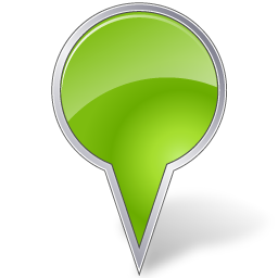 Bubble, Chartreuse, Map, Marker Icon