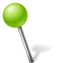 Ball, Chartreuse, Left, Map, Marker Icon