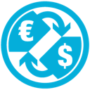 Currency, d, e Icon