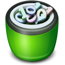 Bin, Full, Icon, Recycle Icon