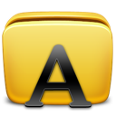 Folder, Fonts, Icon Icon