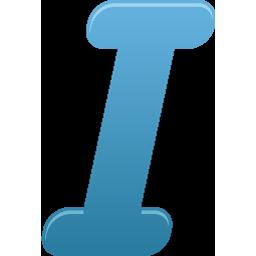 Itailc, Text Icon