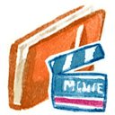 Movies, Red Icon